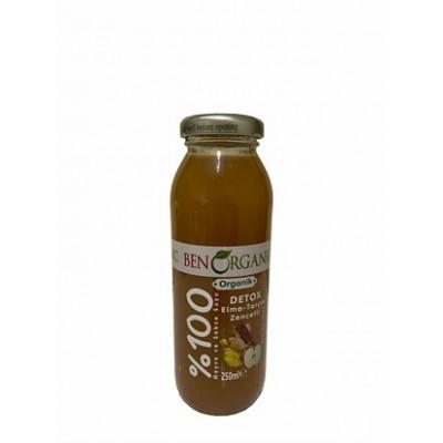 BenOrganic - Organik Detox Meyve Suyu (Elma,Tarçın,Zencefil) 250ml