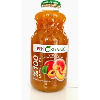 BenOrganic - Organik Şeftali Kayısı Elma Suyu 1lt