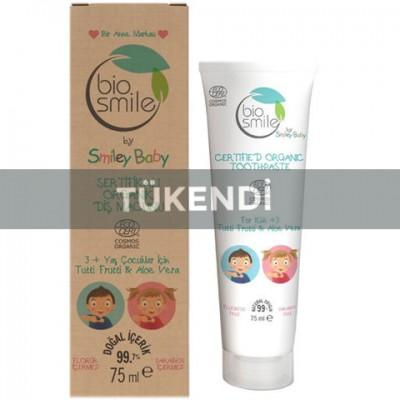 Bio Smile -Organik Diş Macunu Tutti Frutti- Aloe Vera 75ml (3+ yaş çocuklar için)