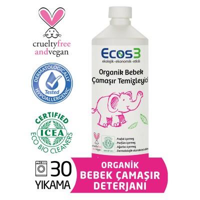 Ecos3 - Organik Bebek Çamaşır Deterjanı 1000ml
