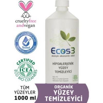 Ecos3- Organik Hipoalerjenik Yüzey Temizleyici 1000ml