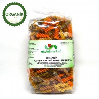 Ekoloji Market - Organik Karışık Sebzeli Burgu Makarna 300gr