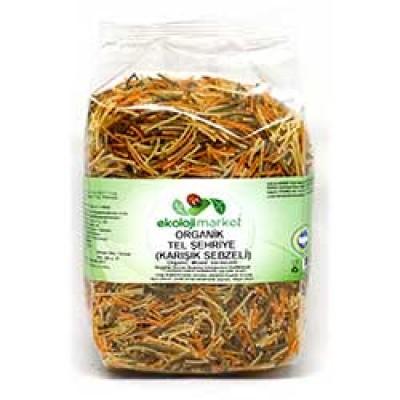 Ekoloji Market - Organik Karışık Sebzeli Tel Şehriye 250 gr