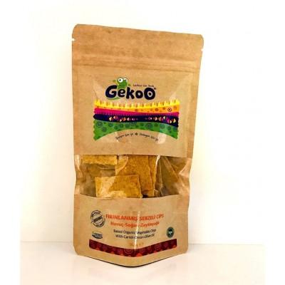 Gekoo - Organik Fırınlanmış Sebzeli Cips (Havuç- Soğan-Zeytinyağı) 115gr