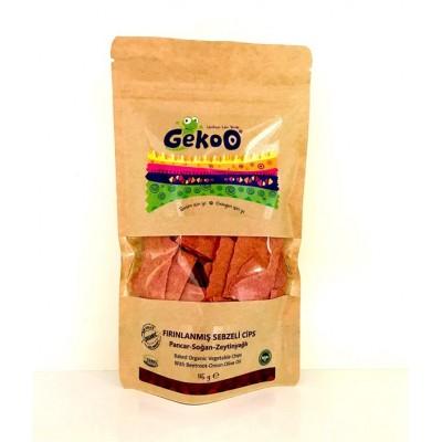 Gekoo - Organik Sebzeli Frınlanmış Cips (Pancar&Soğan&Zeytinyağı )115gr
