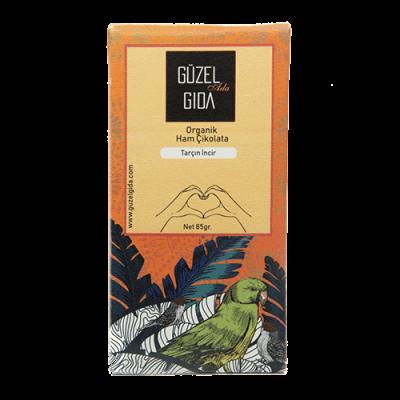 Güzel Gıda - Organik İncir & Tarçın Ham Çikolata 85 gr (%70 Kakao, Glutensiz)