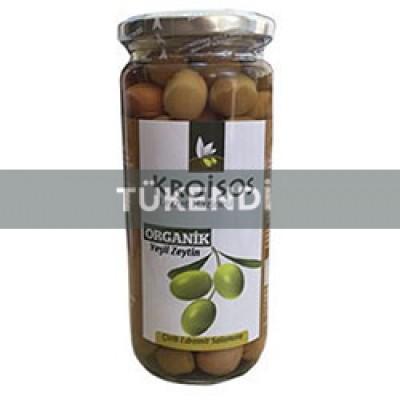 Kroisos - Organik Çizik Yeşil Zeytin 600gr
