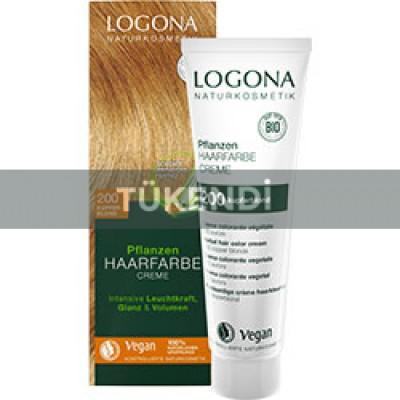 Logona - Organik Bitkisel Krem Saç Boyası (Bakır Sarısı)