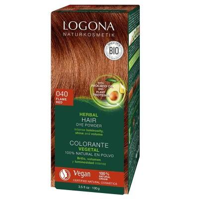 Logona - Organik Bitkisel Toz Saç Boyası -Ateş Kızılı 040