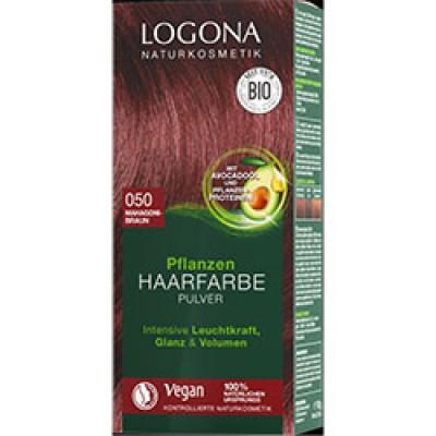 Logona - Organik Bitkisel Toz Saç Boyası (Maun Kahve)