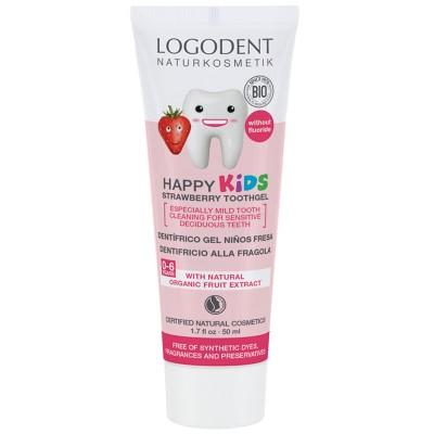 Logona - Organik Çocuklar İçin Çilek Özlü Diş Macunu 50ml