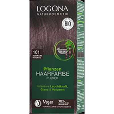 Logona - Organik Bitkisel Toz Saç Boyası (Yoğun Siyah)