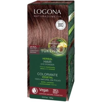 Logona - Organik  Bitkisel Toz Saç Boyası (Kestane)