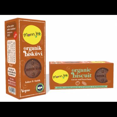 Monn Bio -Organik Kakaolu Fındıklı Bisküvi 80gr