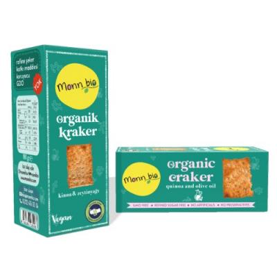 Monn Bio - Organik Kinoalı Zeytinyağlı Kraker 80gr