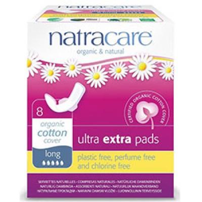 Natracare - Organik Ultra Ekstra Kanatlı Ped (Long)  8 Adet