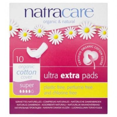 Natracare - Organik Ultra Ekstra Kanatlı Ped ( Süper) 10 Adet