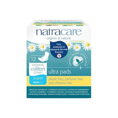 Natracare - Organik Ultra Kanatlı Ped ( Süper) 12 Adet