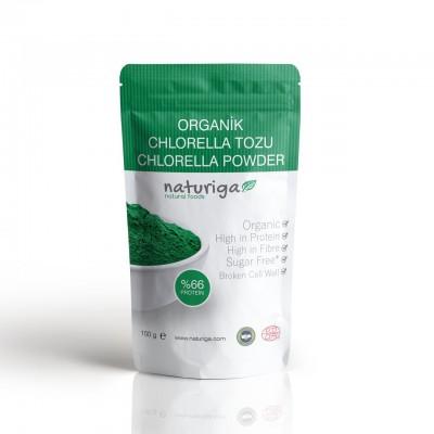 Naturiga - Organik Klorella(Chlorella)Tozu 100gr