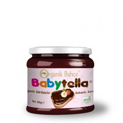 Organik Bahçe -Organik Sürülebilir Kakaolu Krema Babytella 350gr