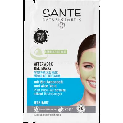 Sante -Organik Yorgunluk Giderici Jel Maske (Organik Avokado Yağı Ve Aloe Vera) 2*4ml