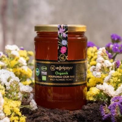 Eğriçayır -Organik Polifloralı Çiçek Balı 850gr