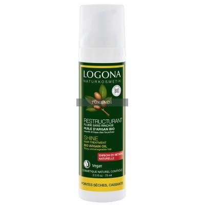 Logona - Organik Parlaklık Veren Saç Bakım Serumu Argan Yağlı 75ml