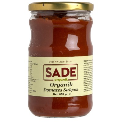 Sade Organik -Organik Domates Salçası 650gr