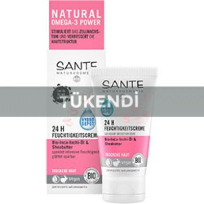 Sante - Organik 24 saat Etkili Koruyucu Nemlendirici Krem (Inca Inchi Yağı & Probitikler) 50ml