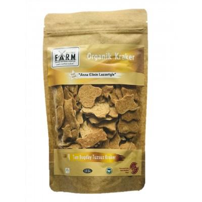 Secret Farm - Organik Tuzsuz Tam Buğday Kraker 100gr