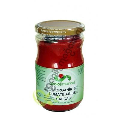 Ekoloji Market - Organik Domates-Biber Karışık Salça 660 gr