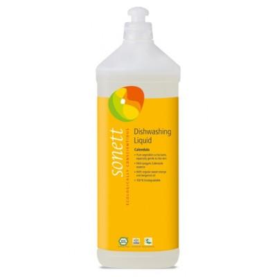 Sonett - Organik Elde Bulaşık Yıkama Sıvısı - Altıncık Çiçekli 1 Litre