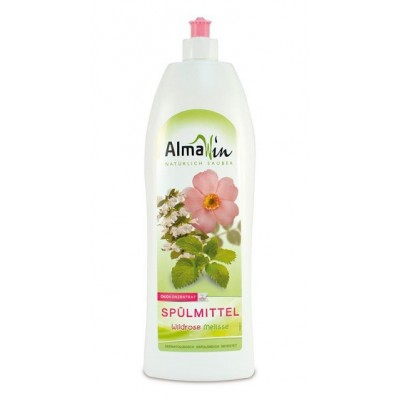 Almawin - Organik Elde Bulaşık Yıkama Sıvısı (Gül-Melisa) 1 Litre