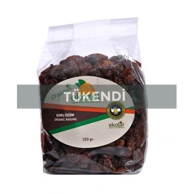 Ekozel - Organik Çekirdekli Kuru Siyah Üzüm 250 gr