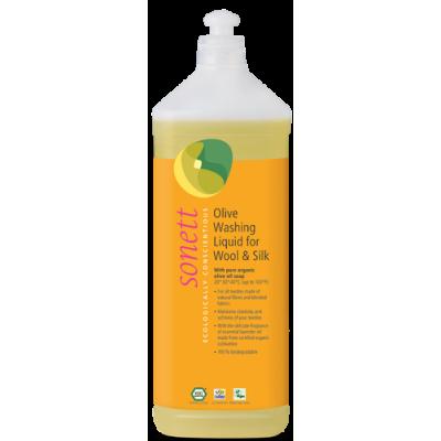 Sonett - Organik İpekli ve Yünlüler için Zeytinli Yıkama Sıvısı 1 Litre