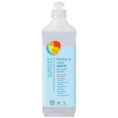 Sonett - Organik Nötral Bulaşık ve Çok Amaçlı Yıkama Sıvısı 500 ml