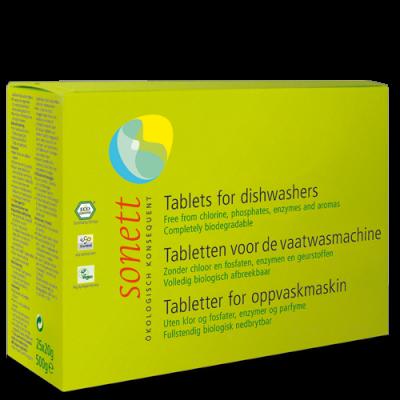 Sonett - Organik Bulaşık Makinesi Tableti 25 x 20 gr