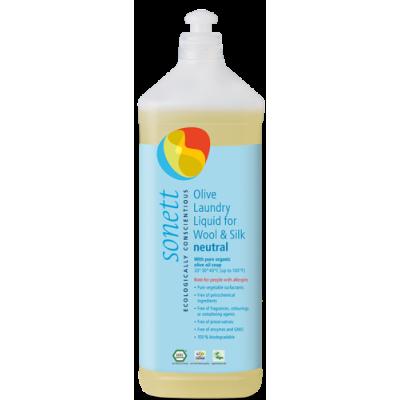 Sonett - Organik İpekli ve Yünlüler için Zeytinli Nötral Yıkama Sıvısı 1 Litre