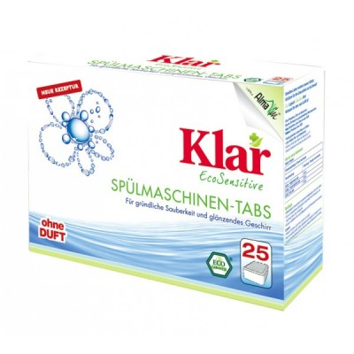 Klar - Organik Bulaşık Makinesi Tableti 25x20 gr