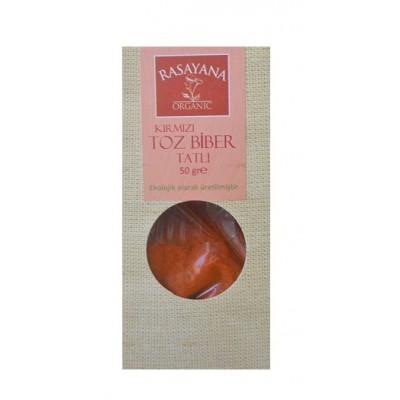 Rasayana - Organik Tatlı Kırmızı Toz Biber 50 gr