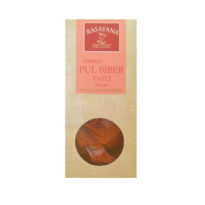 Rasayana - Organik Tatlı Kırmızı Pul Biber 50 gr