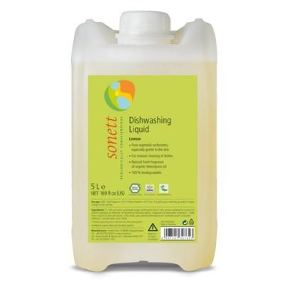 Sonett - Organik Elde Bulaşık Yıkama Sıvısı - Limonotlu 5 Litre