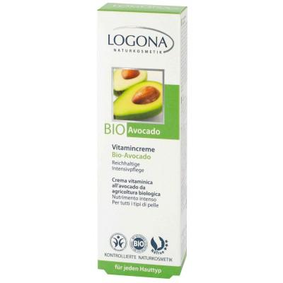 Logona - Organik 24 Saat Etkili Hücre Yenileyici Vitamin E Ve  Avokado Özlü Vitaminli Krem 30 ml