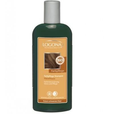 Logona - Organik Boyalı Kahve-Siyah Renkli Saçlar için Fındık Özlü Bakım Şampuanı